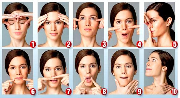 Упражнения на лице. Тренировка лицевых мышц