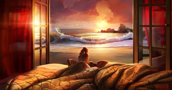 Сон вдовоем на одной кровати